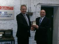 Trevor Yates Recognised for 25 Years Service at J&J Siddons